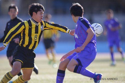 ●終了間際、エースFW飯島陸のゴールで前橋育英が富山第一に競り勝つ