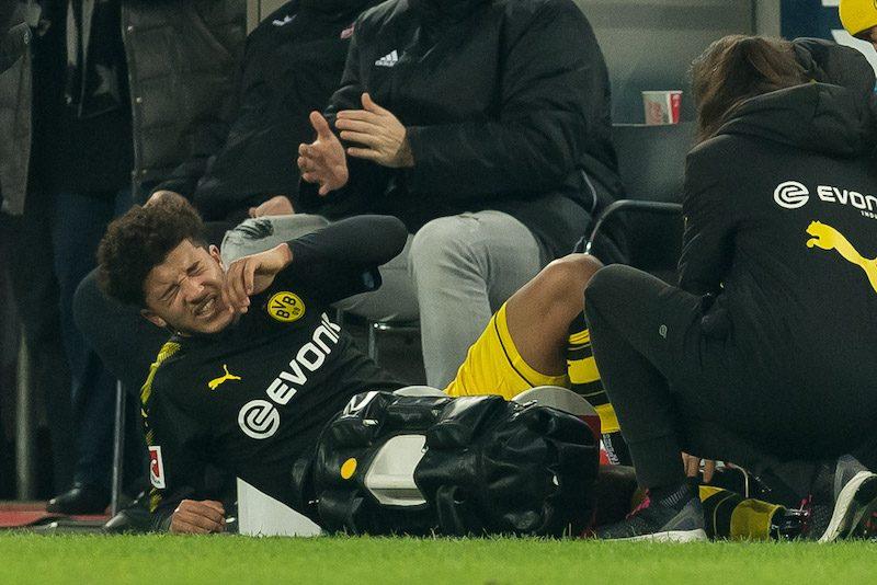 ドルトムント、17歳FWサンチョが「数週間」の負傷離脱…後半戦全4試合に出場