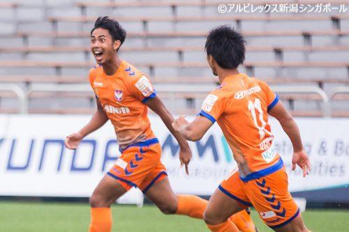●アルビ新潟S、ブルネイを下して開幕3連勝…クラブ初のシンガポール人選手が得点