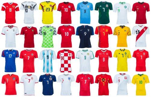 ●W杯出場国のユニフォームを並べてみた お気に入りの戦闘服はどれ?
