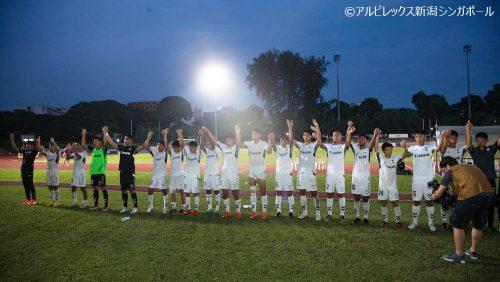 ●アルビ新潟Sが6試合を残し無敗でシンガポールプレミアリーグ3連覇達成