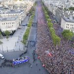 France's World Cup Winning Team Parade Down The Champs Elysees