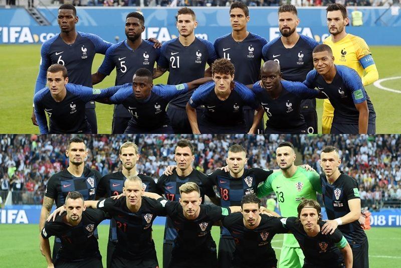 フランス、クロアチア