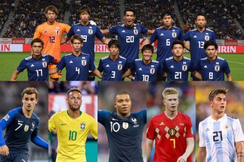 ●4年後のW杯で対戦の可能性も…? コスタリカ戦に出場した日本代表メンバーと同い年の大物選手たち