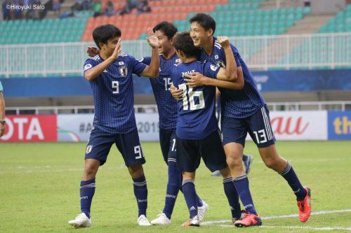 U-19日本代表、大量5得点で3連勝! 準々決勝は開催国インドネシアと激突