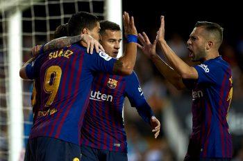 バルセロナ、リーグ戦5試合ぶりの勝利も…メッシが前半途中で負傷交代