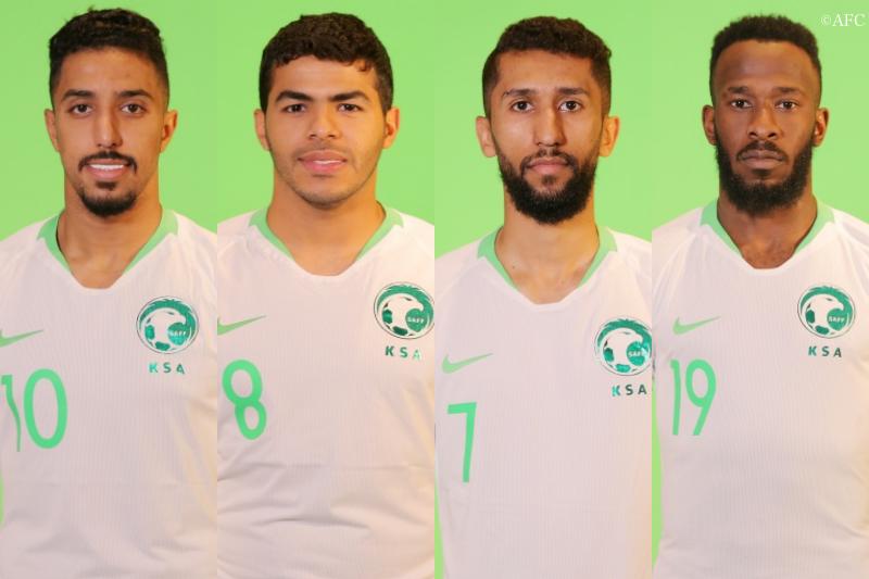 (左から)サレム・アル・ドサリ、ヤヒア・アル・シェフリ、ヌー・アルムサ、ファハド・アル・ムワッラド