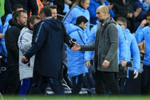 ●ペップ、サッリ両指揮官が試合後の握手騒動に言及「何も問題はない」