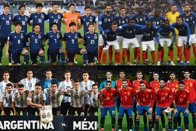 日本、フランス、アルゼンチン、スペイン