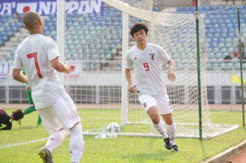 上田綺世がハット達成! U22日本代表、大量8得点でU23選手権予選白星スタート
