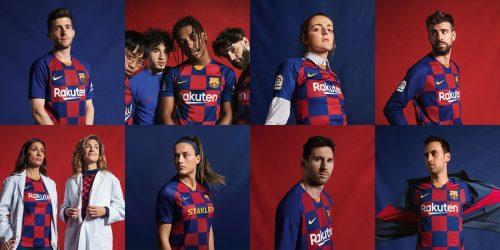 バルセロナが新ユニフォームを発表…デザインは縦縞からチェック柄に