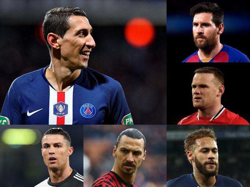 メッシ、C・ロナウド、ネイマール、イブラ、ルーニー…ディ・マリアが選ぶ最高の選手は?