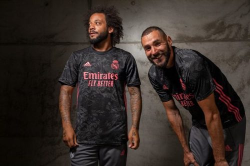 BENZEMA AND MARCELO WEAR REAL MADRID THIRD JERSEY