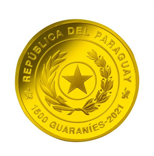 07_パラグアイ1500グアラニー金貨 表面