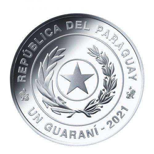 13_パラグアイ1グアラニー銀貨 表面