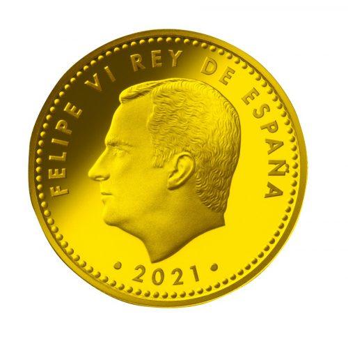 05_スペイン100ユーロ金貨 表面