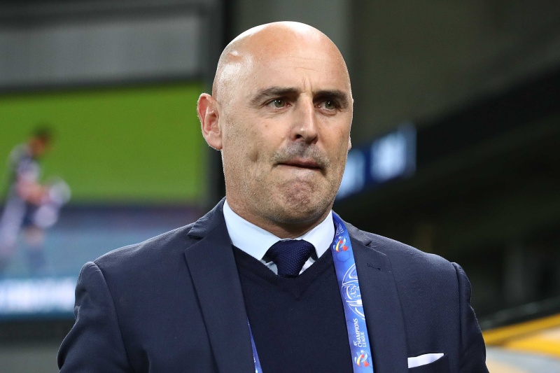 MELBOURNE, AUSTRALIA - MAY 22: Melbourne Victory coach Kevin Muscat during the AFC Champions League Group Stage match between Melbourne Victory and Sanfrecce Hiroshima at AAMI Park on May 22, 2019 in Melbourne, Australia. (Photo by Robert Cianflone/Getty Images)